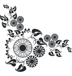 ornament in black 10 vector image