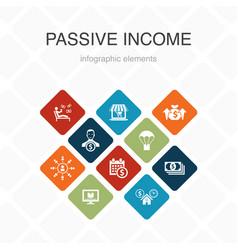 Passive income infographic 10 option color design vector
