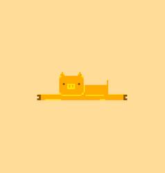 Pig in pixel art style vector