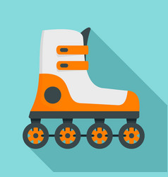 Race inline skates icon flat style vector