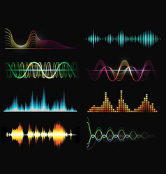 radio sound wave set vector image
