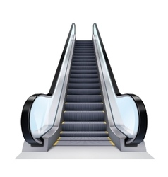 Realistic Escalator vector image