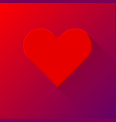 red abstract heart sign vector image