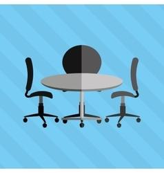 Round table design vector