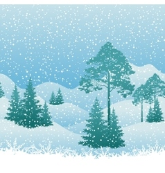 Seamless Christmas Landscape vector image