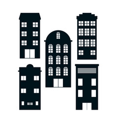 Set buildings vector
