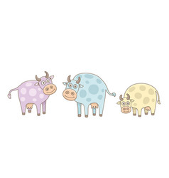 set cows vector image