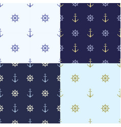 Set of seamless pattern with anchor ship steering vector