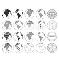 set various three-dimensional abstract earth vector image