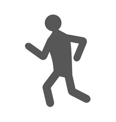 silhouette of a man running vector image