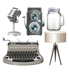 Silver objects vector image