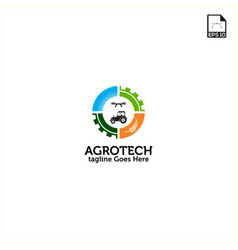 simple concept logo design agriculture technology vector image