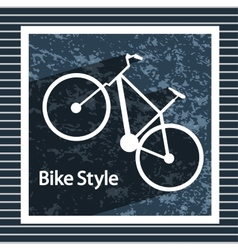 Simple flat images bike on the background vector image vector image