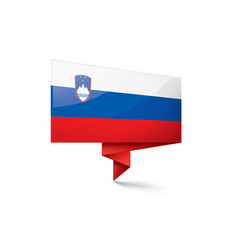 slovenia flag on a white vector image