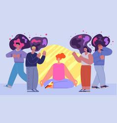 Social separation human bubble cartoon healthy vector