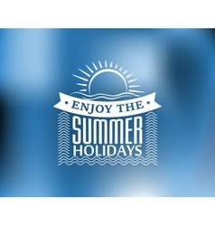 Summer Holidays poster or banner vector