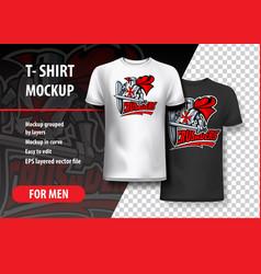 T-shirt template of valiant knight crusader vector