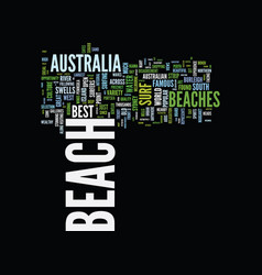 the most beautiful beaches in australia text vector image