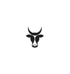 Unique head dairy cows logo symbol icon design vector