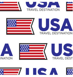 usa travel destination national flag seamless vector image