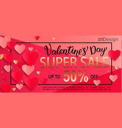 valentines day super sale gift card vector image