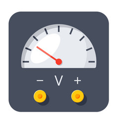 voltmeter icon vector image