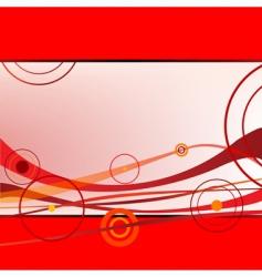 waves and circles vector image