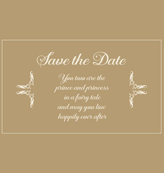Wedding invitation greeting card style vector