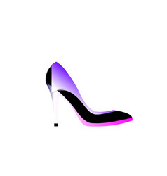 women shoes in different shades violet isolated vector image