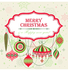 christmas background with place for text vector image vector image