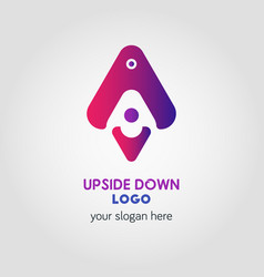 colorful up and down arrow logo template using vector image