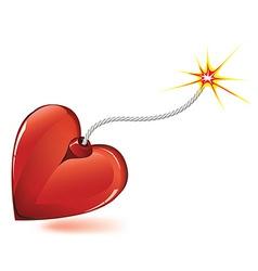 heart love bomb vector image vector image