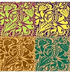 Multi colored unusual contours vector