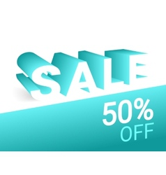 Sale 3d text vector image vector image