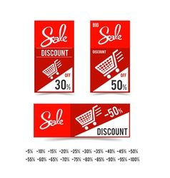 Set of sale tag circle banner ribbon paper 002 vector image vector image