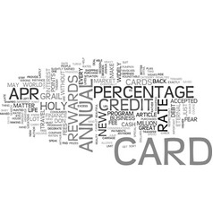 what is a apr credit card text word cloud concept vector image