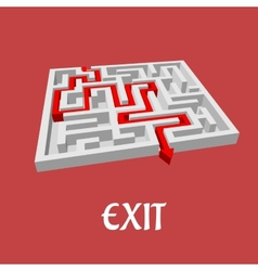 labyrinth or maze puzzle vector image