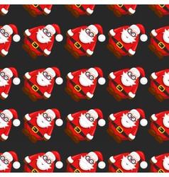 seamless christmass pattern santa claus vector image vector image