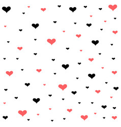 valentines day card hearts background vector image