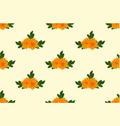 yellow chrysanthemum on ivory beige background vector image