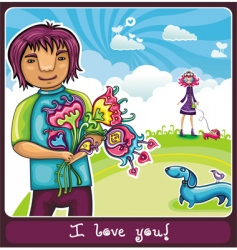 young lovers vector image vector image