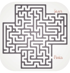 Abstract maze vector image vector image
