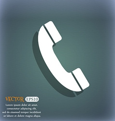 Call icon On the blue-green abstract background vector image