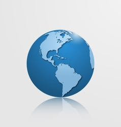detailed globe with north and south america vector image