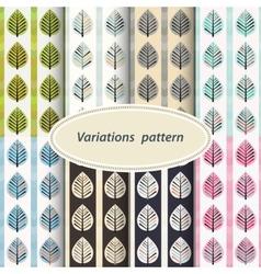 Flower patterns set vector image