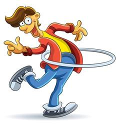 Hula Hoop Man vector image vector image