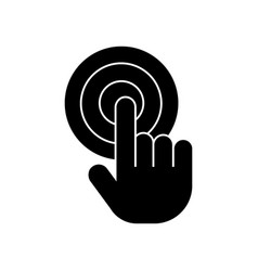 touch by finger touchscreen icon vector image vector image