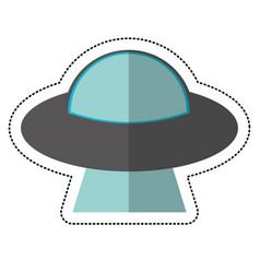 Ufo vehicle shadow vector