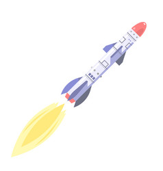 ballistic missile vector image vector image
