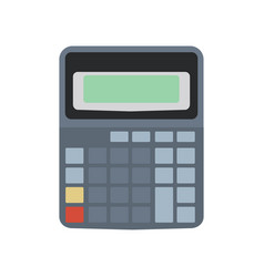 calculator icon isolated design business button vector image vector image